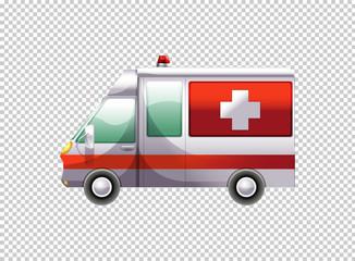 Ambulance van on transparent background