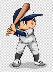 Baseball player holding baseball bat