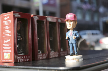 Donald Trump dolls for sale are on display near the Republican National Convention in Cleveland
