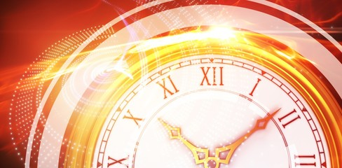 Composite image of illustrative image of a clock