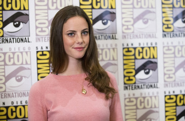 "Cast member Scodelario poses at a press line for ""The Maze Runner"" during the 2014 Comic-Con International Convention in San Diego"