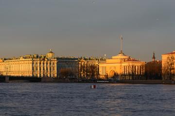 Palace embankment in Saint-Petersburg