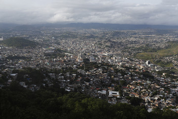 A general view of Tegucigalpa is seen from Picacho Park