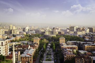 Panoramic view of Erevan, the capital of Armenia