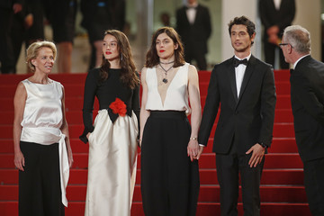 "Director Valerie Donzelli, cast members Jeremie Elkaim and Anais Demoustier pose on the red carpet as they arrive for the screening of the film ""Marguerite et Julien"" in competition at the 68th Cannes Film Festival in Cannes"