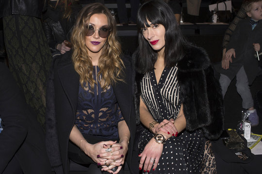 Actress Cassidy and interior designer Calderone attend New York Fashion Week