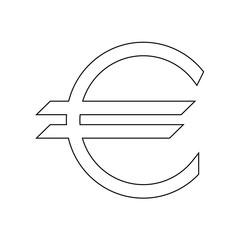 Euro symbol the black color icon .