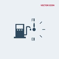 fuel counter vector icon