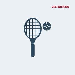 tennis racket and ball vector icon