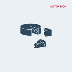 piece of cheese vector icon