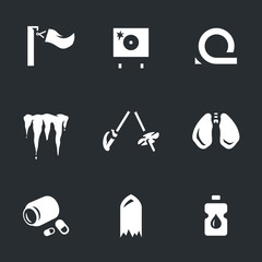 Vector Set of Biathlon fail Icons.