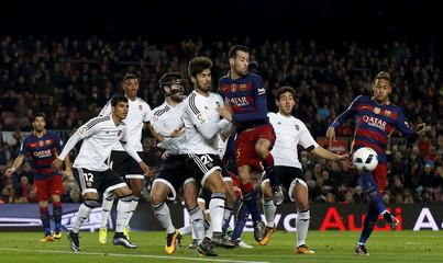 Football Soccer - Barcelona v Valencia - Spanish King's Cup semifinal- Camp Nou stadium, Barcelona