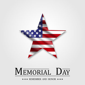 Memorial Day, Star and Flag USA