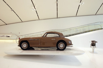 A Maserati Coupe is pictured at the Casa Enzo Ferrari museum during a media preview in Modena