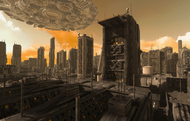 Future Cityscape 3D Illustration