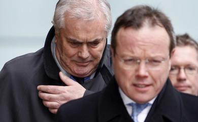 Former Cazenove partner Calvert arrives at Southwark Crown Court for sentencing in London