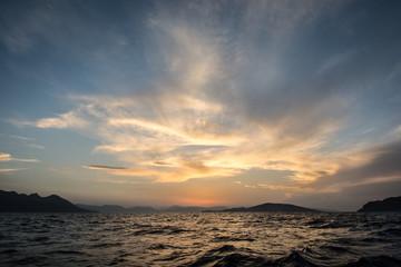 Damatic sunset sky - Sky, Cloud - Sky, Cloudscape, Sunset, Sun