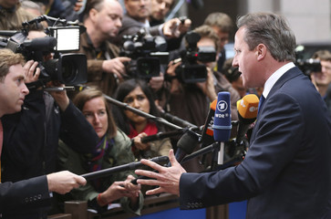 Britain's PM Cameron arrives at an informal summit of European Union leaders in Brussels