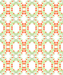 Seamless pattern with red flowers. For design, wallpaper, cover invitation, fabric and textile. Vector floral pattern.