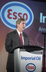 Imperial Oil Ltd. Chairman, President and CEO Rich Kruger speaks at the Annual General Meeting in Calgary