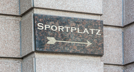 Schild 204 - Sportplatz