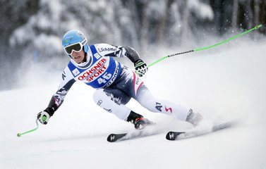 Striedinger of Austria skis to second place during the Men's World Cup Super-G ski race in Beaver Creek