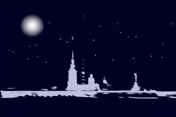 Night city, vector