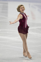 Rachael Flatt skates at a practice session during the U.S. Figure Skating Championships in Greensboro