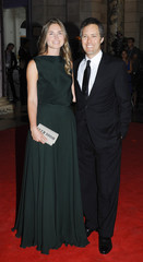 Model and designer Bush Lauren and husband David attend Sports For Peace Fundraising Ball at The V&A in London