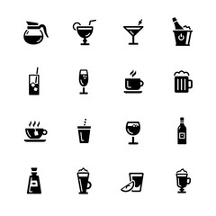 Drinks Icons // Black Series - Vector icons for your digital or print projects.