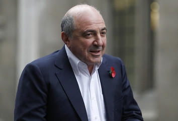 Russian tycoon Boris Berezovsky arrives at a division of the High Court in central London
