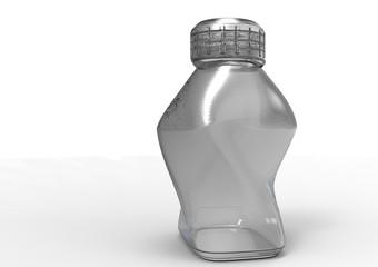 Glass bottle 3D