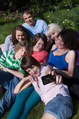 Friends having photo taken