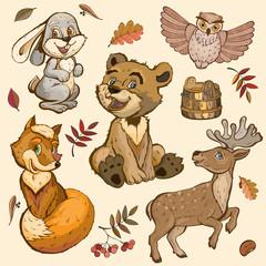 Set of children's toys.  Vector illustration.
