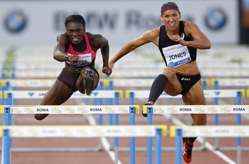Harper-Nelson of the U.S. clears a hurdle on her way to win the women's 100m hurdles event during the Golden Gala IAAF Diamond League at the Olympic stadium in Rome