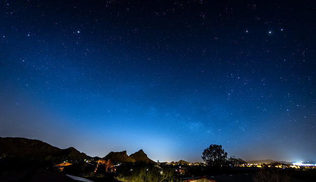 Night Sky over Suburbs