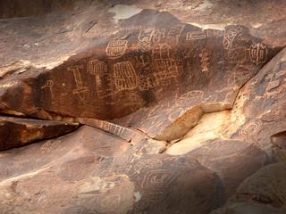 Petroglyphs in Nevada Desert