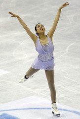 Asada of Japan performs during the women's free skating event at the ISU World Figure Skating Championships in Nice