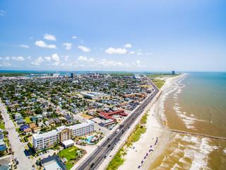 Galveston Texas from the air