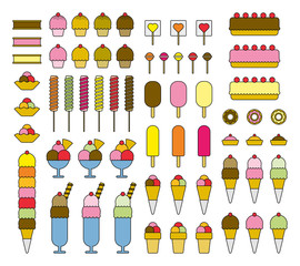 ICE CREAM filled icons