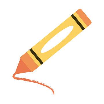crayon stationery tool icon image vector illustration design