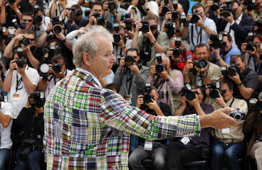 Cast member Murray poses during a photocall at the 65th Cannes Film Festival,