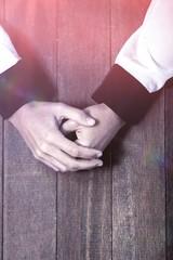 Praying hands of woman