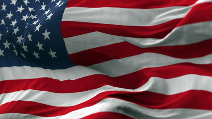 USA flag blowing on the wind, loopable slowmotion