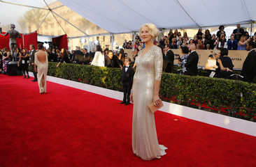 Actress Helen Mirren arrives at the 22nd Screen Actors Guild Awards in Los Angeles