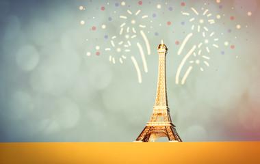 Eiffel Tower shaped souvenir