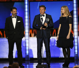 Mark Burnett accepts his award during the 21st Annual Critics' Choice Awards in Santa Monica
