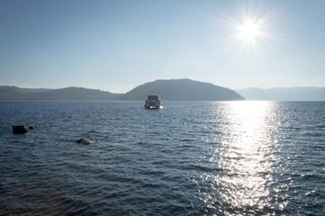 Idyllic nature of Lake Towada, Oirase Gorge, Aomori, Japan