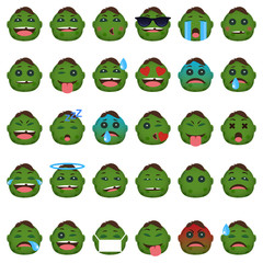 zombie face emoticon collection
