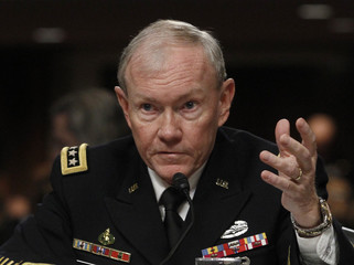 General Martin Dempsey testifies in Washington on the Defense Department's response to the attacks on US facilities in Benghazi